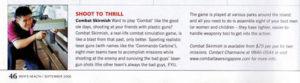 Magazine column feature laser tag
