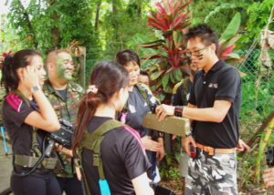 team building games with laser tag