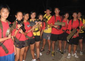 orientation games at night