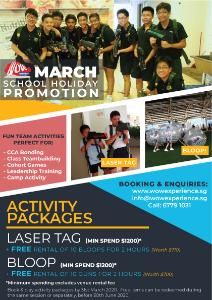 Special Promotion for March School Holidays