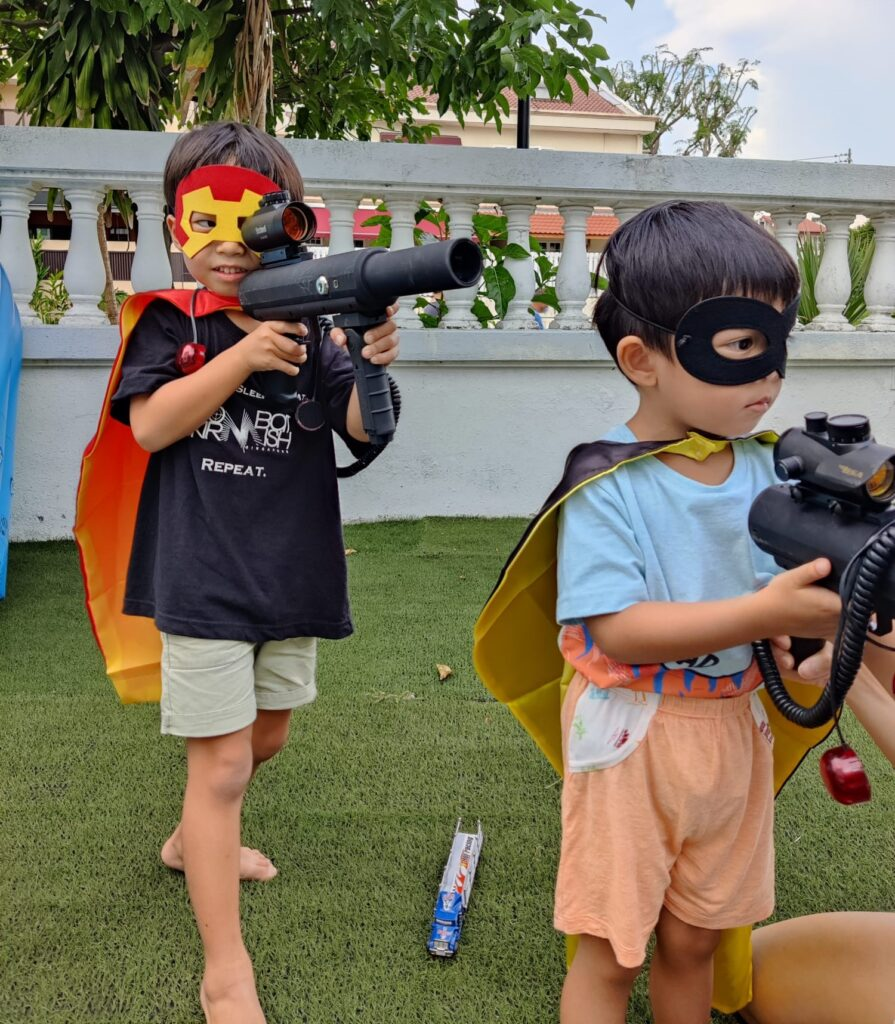 Combat Skirmish Themed Laser Tag Party for Kids